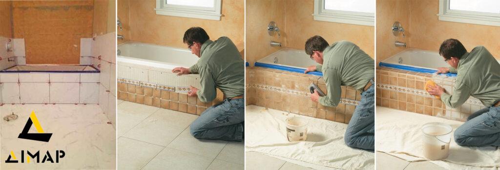 облицювання ванної кімнати плиткою Дімар