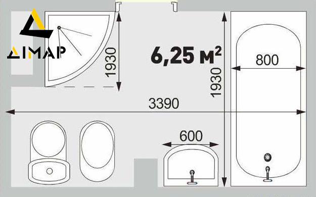 схема робіт ремонту ванної кімнати Дімар